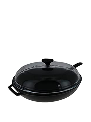 Chasseur 2.5-Qt. Cast Iron Fry Pan with Lid, Black