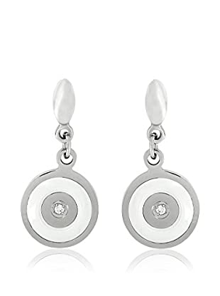 Art de France Pendientes Drop Target Blanco