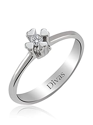 Divas Diamond Anillo Diamante Solitario (Plata)