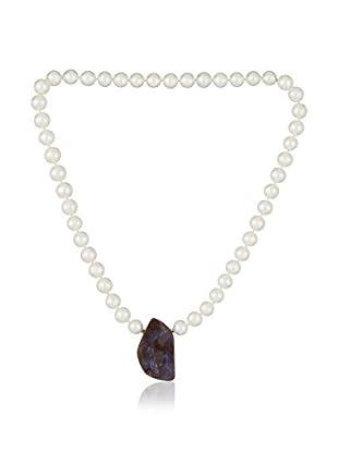 Bentelli Collar 925 Silver Pearls plata de ley 925 milésimas / Marrón