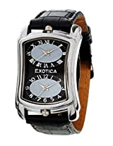 Exotica Analog Black Dial Men's Watch (EX-40 DUAL-B)