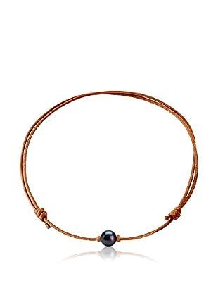 Manufacture Royale des Perles du Pacifique Halskette  braun