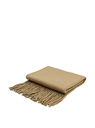 PÜR Cashmere Signature Blend Throw, British Khaki
