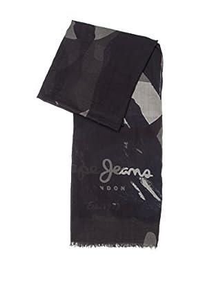 Pepe Jeans London Foulard Camu-Flag Scarf (Gris Oscuro)
