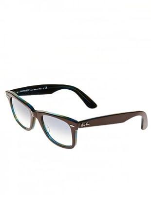 Ray Ban Sonnenbrille Wayfarer RB 2140 schokolade/blau