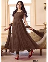 VandV New Collection In Designer Dark Brown Anarkali Suit