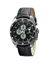 EMPORIO ARMANI CHRONOGRAPH MEN'S WATCH AR5917 WITH GENUINE BLACK LEATHER BAND