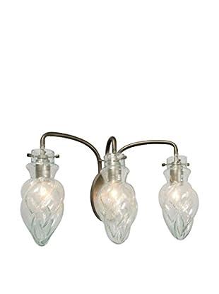 Varaluz Vintage 3-Light Vanity, New Bronze/Clear