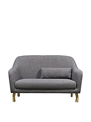 International Designs USA Penthouse Love Seat, Grey