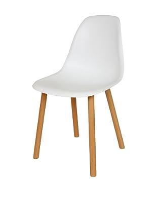 Stilnovo Arne Side Chair, White/Wood