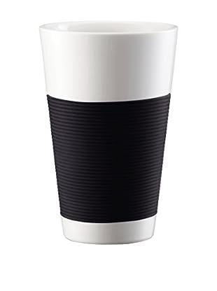 Bodum Kaffeetasse 2er Set Bodum Canteen 0.35 L schwarz/weiß