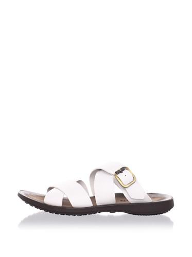 Hogan Men's Crossed Leather Sandal (White)