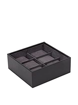 WOLF 6-Watch Stackable Tray, Black