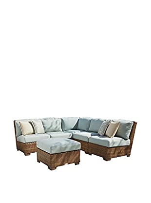 Panama Jack 6-Piece St Barths Sectional With Ottoman, Brown
