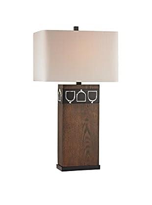 Artistic Lighting Table Lamp, Antique Pine/Chrome