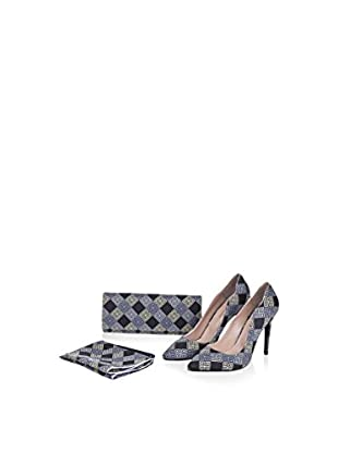 Lorawest Pumps + Clutch + Halstuch