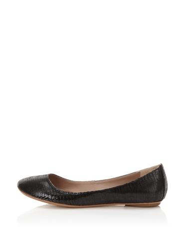 Belle by Sigerson Morrison Women's 6311 Flat (Black Suede)