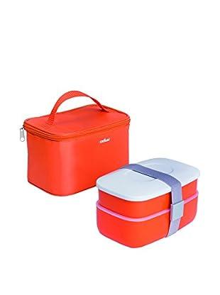 Enjoy Home  Behälter luftdicht 7 tlg. Set orange/weiß