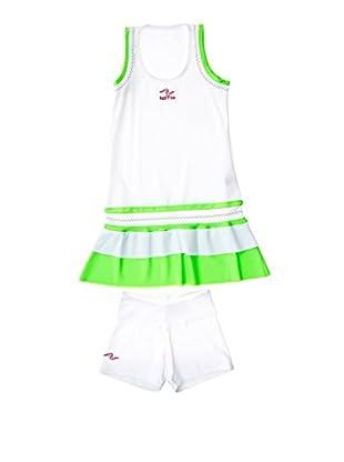 Naffta Vestido Niña (Blanco / Verde)