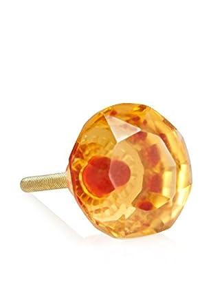 A. Sanoma Inc. Large Glass Knob, Amber