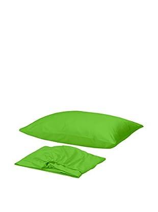 Homemania Betttuch und Kissenbezug grün 150 x 240 cm