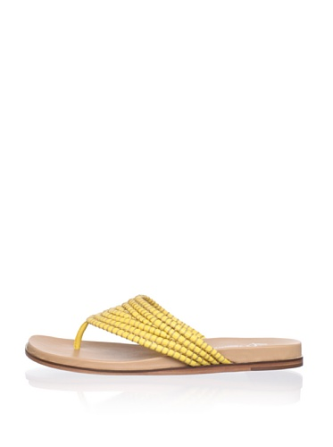 Lisa by Donald J Pliner Women's Gemina Flat Sandal (Sunset/Sunset)