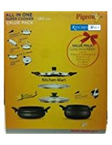 Pigeon Belita All In One SUPER Cooker - 3 ltrs and 5 ltres Combo Value Pack