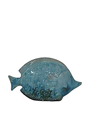 Three Hands Blue Ceramic Fish