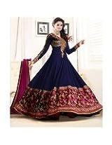 Designer Nevy Blue Anarkali Suit - for Salwar Suit by StylishFashion