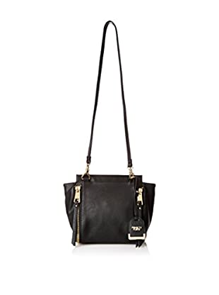 POVERTY FLATS by rian Women's Double Strap Shoulder Bag, Black
