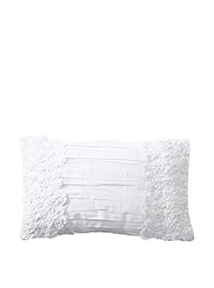 Shades of India Daffodils Lumbar Pillow Cover, White