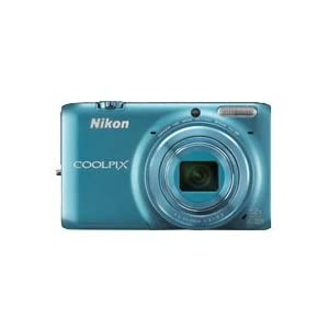 Nikon Coolpix S6500 16MP Point-and-Shoot Digital Camera (Blue) with 4GB Card, Camera Pouch, HDMI Cable