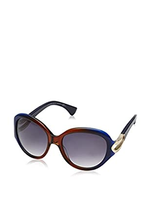 Alexander McQueen Gafas de Sol AMQ4217/S (56 mm) Azul / Marrón