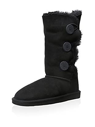 Pegia Women's Classic Short Boot with 3 Button Closure