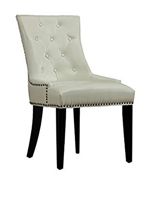 TOV Furniture Uptown Leather Dining Chair, Cream