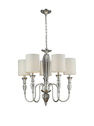 Artistic Lighting Martique 5-Light Chandelier, Silver Leaf