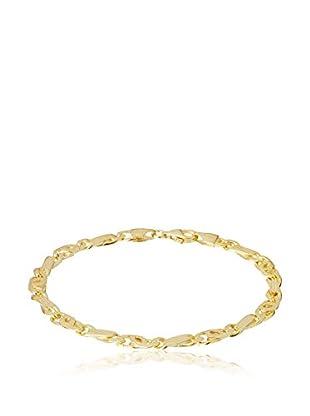 Cordoba Joyeros Pulsera plata de ley 925 milésimas bañada en oro