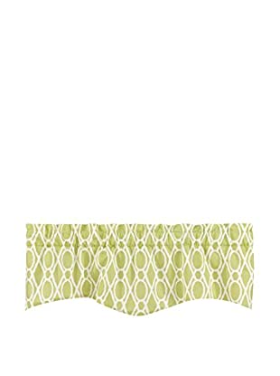 Split P Pistachio Trellis Wave Window Valance