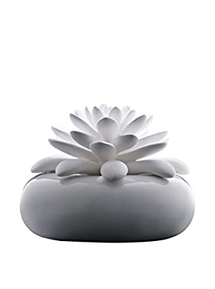 CHANDO Elegance Collection White Lotus Diffuser with 2.7-Oz. Caribbean Sea Fragrance