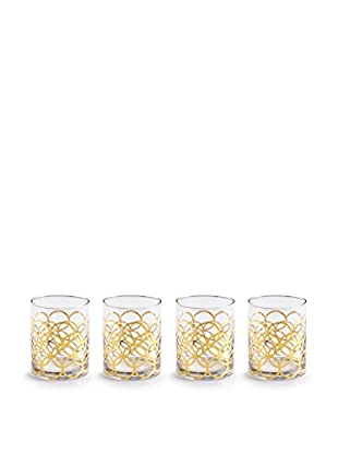Rosanna Set of 4 La Cite 12-oz. Double Old Fashioned Glasses