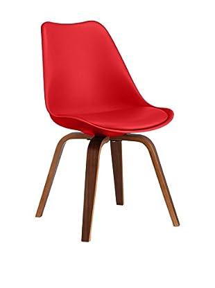 LO+DEMODA Set Silla 2 Uds. Cross Plywood Rojo