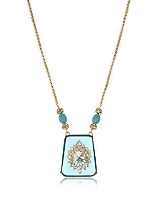 Bijou Blue Crystal Pendant Necklace