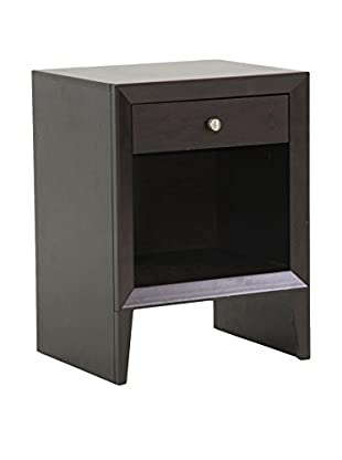 Baxton Studio Leelanau Accent Table/Nightstand, Dark Brown