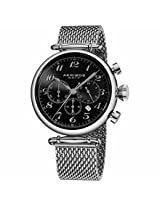 Akribos Black Dial Chronograph Stainless Steel Mens Watch Ak627Ssb
