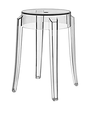 Kartell Set, 2-tlg Hocker kristall H46 Ø Sitz 39 - Ø Sitzfläche  26,5 cm