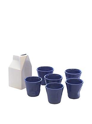 Kaleidos Espresso 7 tlg. Set weiß/blau