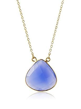Ashiana London Blue Chalcedony Drop Necklace