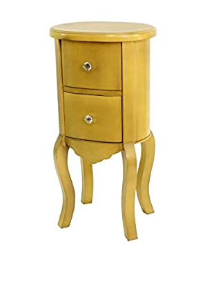 Teton Home Wooden Cabinet, Yellow