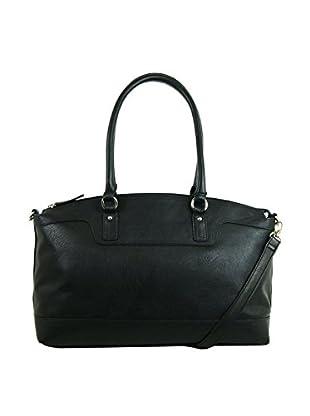 Emilie M. Women's Jane Top Zip Shoulder Bag, Black