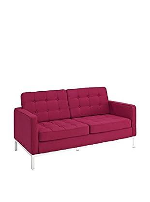 Modway Loft Loveseat (Red Tweed Wool)